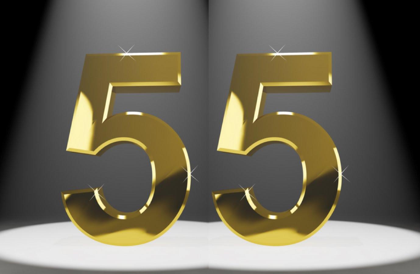 55 лет анимация цифры, открытки