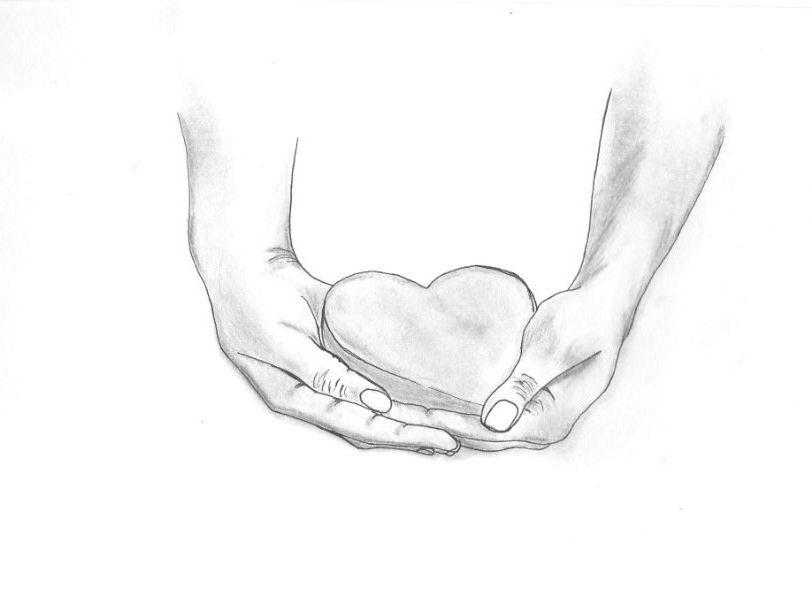 чувствовать руки держат сердце рисунок карандашом фото вид каомодзи